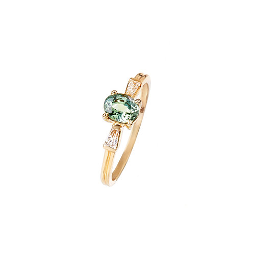Green Velvet Diamond Ring