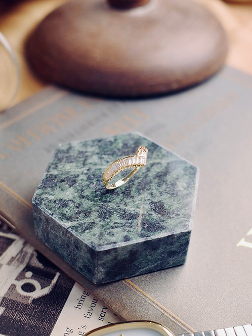 Agatha Hills Baguette Diamond Ring