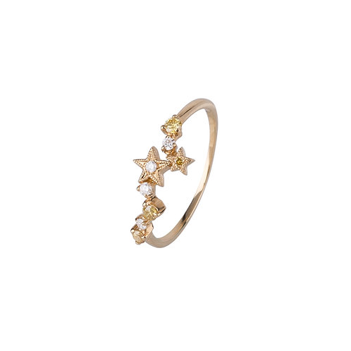Twinkle Star Diamond Ring