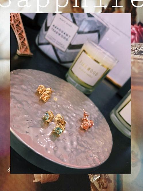 Fancy Color Sapphire Earrings