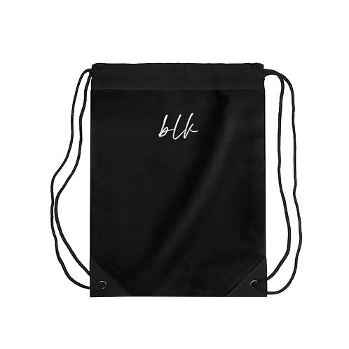 """blk"" Drawstring Bag"