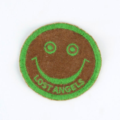"""No93 ALM Smile Patch """"LOST ANGELES"""" Brown"""
