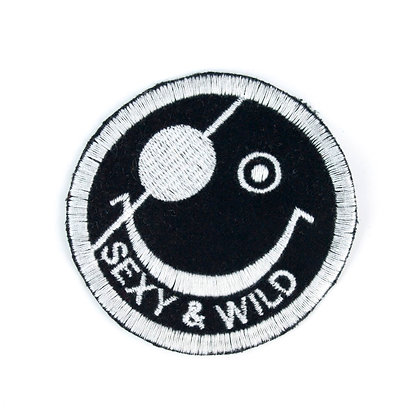 "No95 ALM Smile Patch ""SEXY & WILD"" Black"