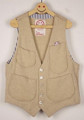 ALM Recycle Cashmere Vest Beige