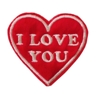 "ALM Valentine  Patch ""I Love You"""