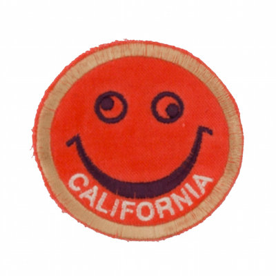 "No21 ALM Smile Patch Neon Orange ""CALIFORNIA"""