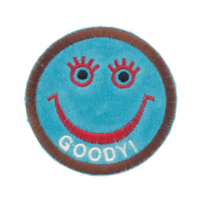 "No60 ALM Smile Patch Turquoise ""GOODY!"""