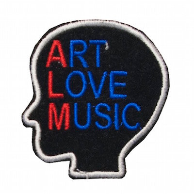 "No125  ALM Patch ""ART LOVE MUSIC"" Black"