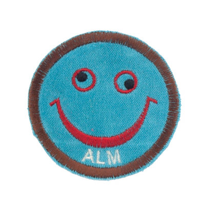 """No61 ALM Smile Patch Turquoise """"ALM"""""""