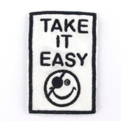 "No71 ALM Message Patch ""Take It Easy"" White"