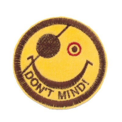 "No53 ALM Smile Patch Yellow ""DON'T MIND"""