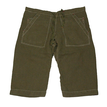 ALM Reversible Capoeira Silk Shorts Olive