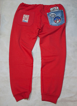 ALM Full Length Sweat Pants Red Large