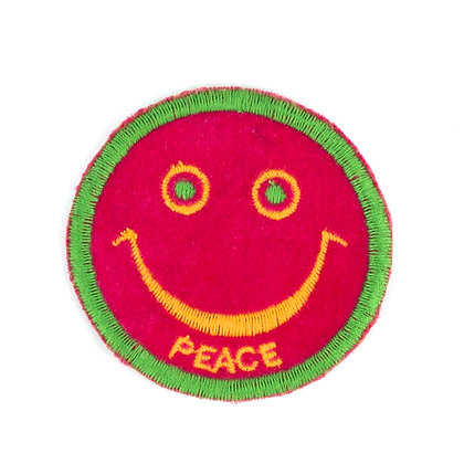 """No85 ALM Smile Patch """"PEACE"""" Pink"""