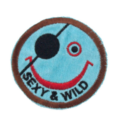 "No58 ALM Smile Patch Aqua ""SEXY & WILD"""