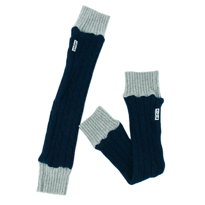 Recycled Cashmere Kid's Leg Warmer Navy