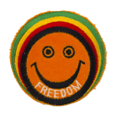 "No12 ALM Rasta Man Smile Patch ""FREEDOM"""