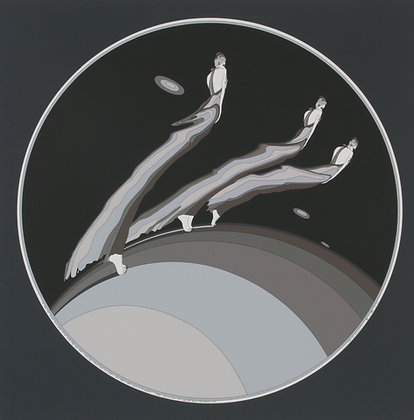 No21, THREE VANISHING FIGURES Silk Screen (1976)