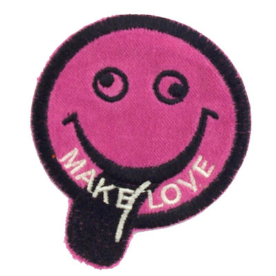 """No43 ALM Smile Patch Pink """"MAKE LOVE"""""""