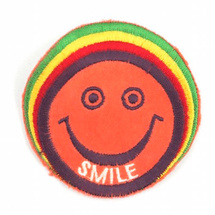 "No147 ALM Rasta Smile Patch Orange  ""SMILE"""