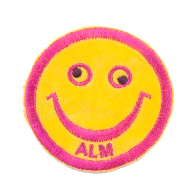 "No50 ALM Smile Patch Yellow ""ALM"""