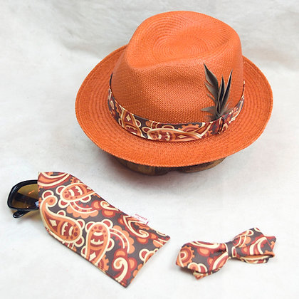 ALM Christys x Jean Patou Panama Hat 3pc Set C