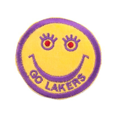 """No49 ALM Smile Patch Yellow """"GO LAKERS"""""""