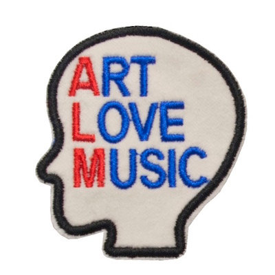"No124  ALM Patch ""ART LOVE MUSIC"" White"