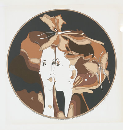 No37, TWO BUTTERFLY HEADS Silk Screen (1979)