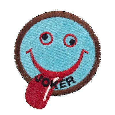 """No59 ALM Smile Patch Aqua """"JOKER"""""""