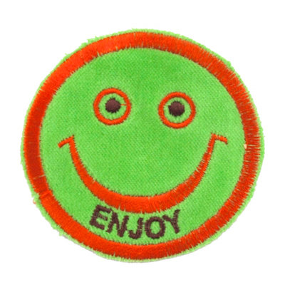 "No45 ALM Smile Patch Lime ""ENJOY"""