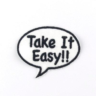 """No116 ALM Bubble Patch """"Take It Easy"""""""