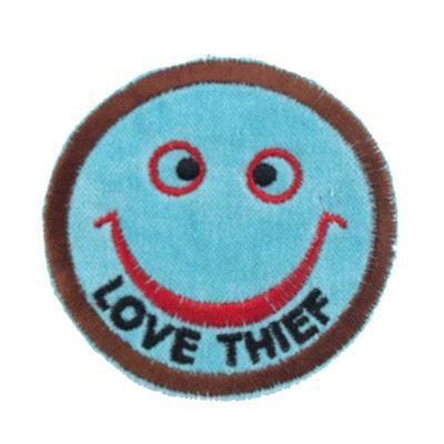 """No57 ALM Smile Patch Aqua """"LOVE THIEF"""""""