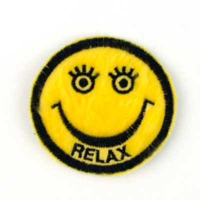"""No77 ALM Smile Patch Yellow """"Relax"""""""