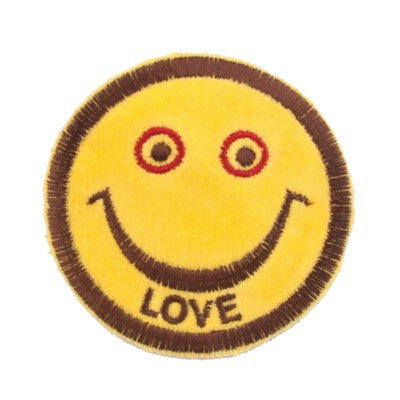 "No54 ALM Smile Patch Yellow ""LOVE"""