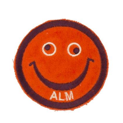 """No23 ALM Smile Patch Neon Orange """"ALM"""""""