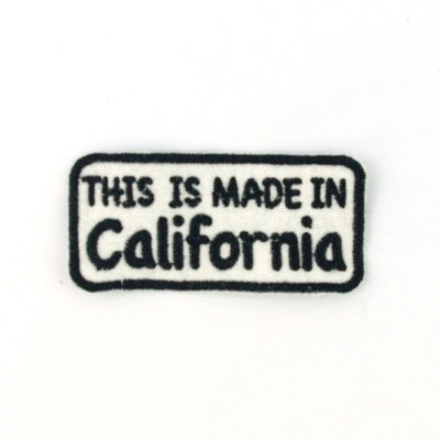 "No114 ALM Message Patch ""Made in California"""