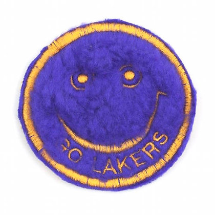 "No140 ALM Smile Patch Purple ""GO LAKERS"""