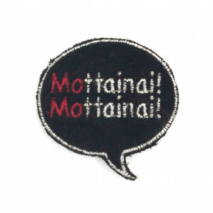 "No159 Bubble Patch Black  ""Mottainai!!Mottainai!!"""