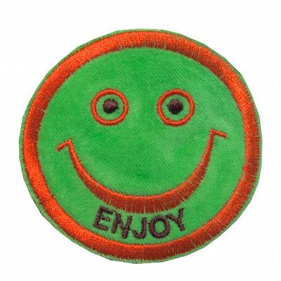 "No128  ALM Smile Patch ""ENJOY"" Green"