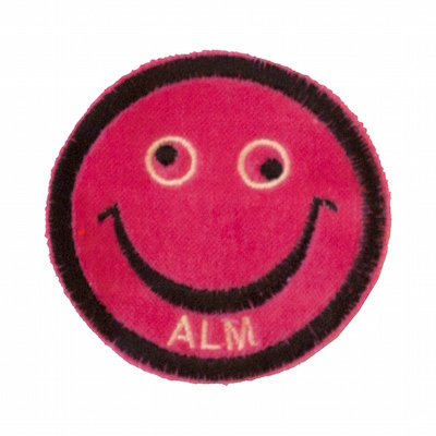 """No20 ALM Smile Patch Neon Pink """"ALM"""""""