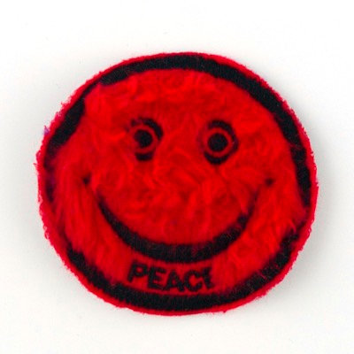 """No78 ALM Smile Patch Red """"PEACE"""""""