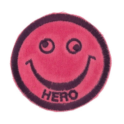 "No130 ALM Smile Patch Pink ""HERO"""