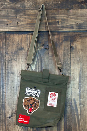 ALM Recycled Military Cross Body Bag B