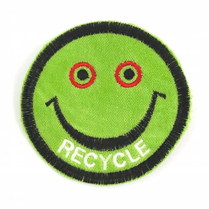 "No138 ALM Smile Patch Lime ""RECYCLE"""