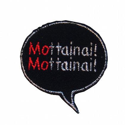 """No5, """"Mottainai!! Mottainai!!""""吹き出しパッチ 黒"""