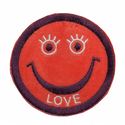 "No127  ALM Smile Patch ""LOVE"" Orange"