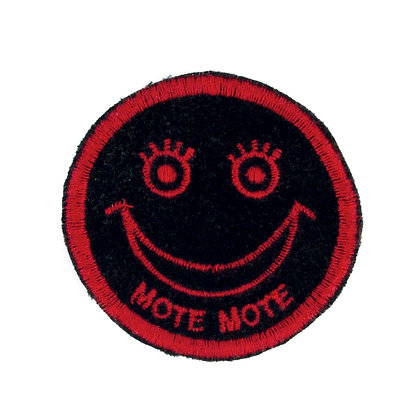 "No88 ALM Smile Patch ""MOTE MOTE"" Black"