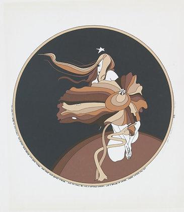 No35 LITTLE FLOWER GIRL Silk Screen (1979)