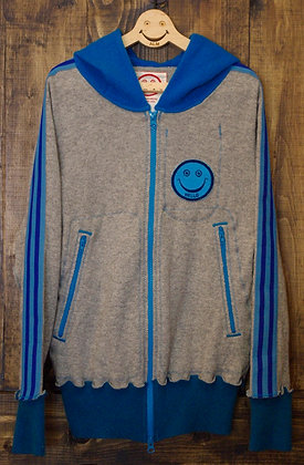 "ALM Recycle Cashmere Hoodie ""PEACE CALIFORNIA"""